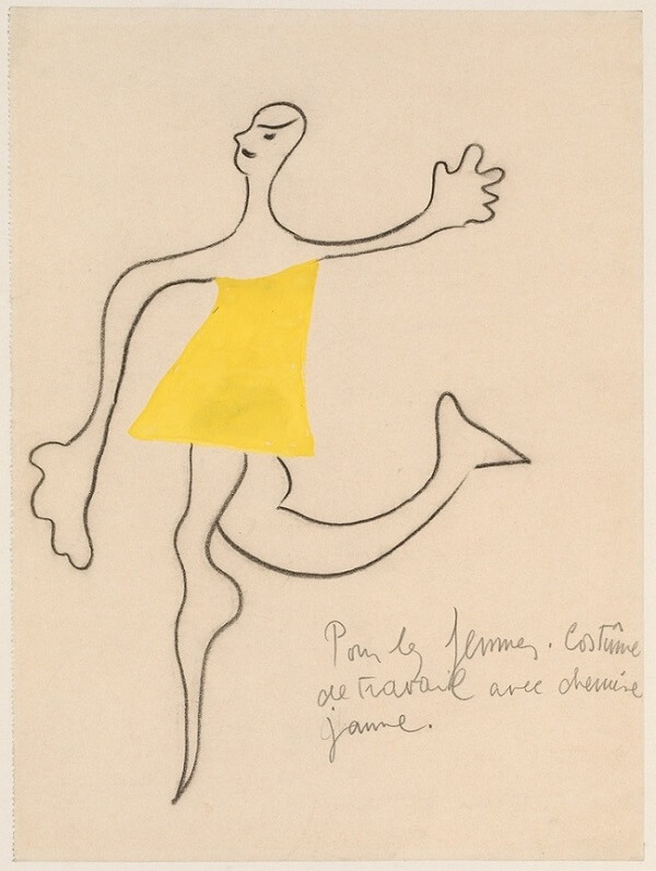 Romeo and Juliet Costume Design, 1926 by Joan Miro