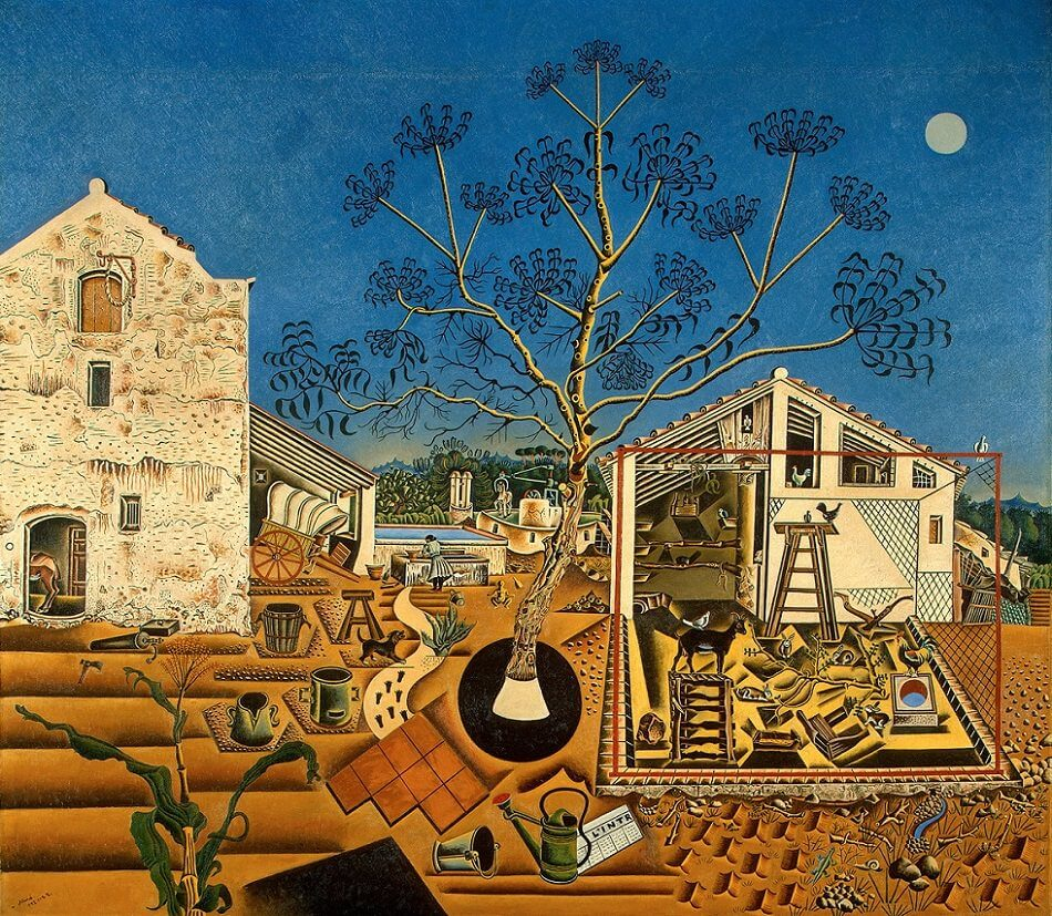 The Farm, 1922 by Joan Miro