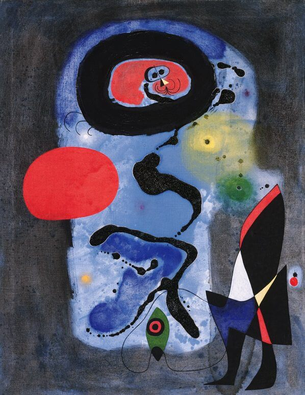 The Red Sun, 1948 by Joan Miro