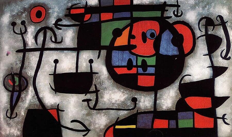 The Skiing Lesson, 1966 by Joan Miro