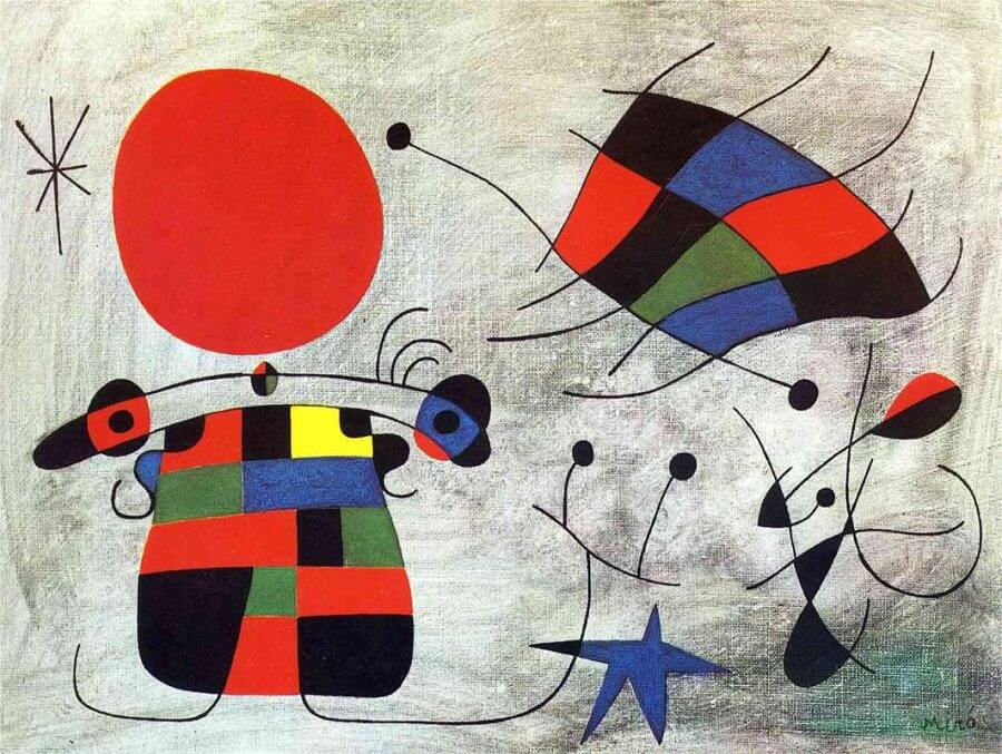 The Smile of the Flamboyant Wings, 1953 by Joan Miro